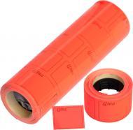 Цінник F 4 друкований 4 метри 111 шт. 5 роликів 29x36 червоний