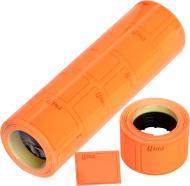 Цінник F 4 друкований 4 метри 111 шт. 5 роликів 29x36 помаранчевий