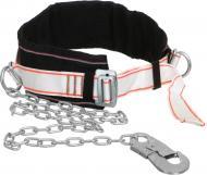 Пояс страхувальний зі стропом з металевого ланцюга та малим карабіном
