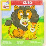 Гра настільна Bino Кубики з малюнками тварин 84173