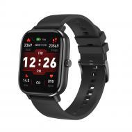 Умные часы NO.1 DT35 Plus Silicone с поддержкой измерения давления Черный
