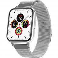 Смарт-часы NO.1 DTX Silver (тонометр, пульсоксиметр, ЭКГ)