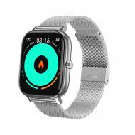 Смарт-часы NO.1 DT35 Plus Silver (тонометр, температура, пульсоксиметр, ЭКГ, разговор)
