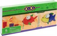 Пластилін зі стеком ZB.6200 6 кольорів 120 г ZiBi