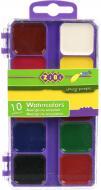 Фарби акварельні 10 кольорів ZB.6520 ZiBi