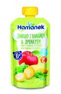 Пюре Hamanek Яблуко з бананами і шпинатом 100 г