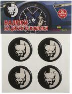 Наліпка TERRAPLUS на ковпаки та диски Пітбуль 50 мм