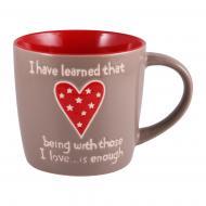 Чашка Big Heart Gray 470 мл M0420-K339BR Milika