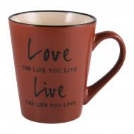Чашка Love&Live Brown джамбо 410 мл M0420-K142BR Milika