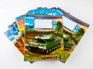 Комплект зошитів Міцар Ц262049У скоба 24 арк клітинка Серія Танки 20 шт (234537)