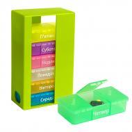 Органайзер для таблеток MVM PC-01 GREEN на 7 днів (таблетниця) 142x86x47 мм