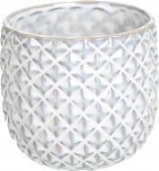 Кашпо керамічне Ромбік круглий (380A-5.5P-H1) айворі