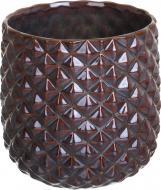 Кашпо керамічне Ромбік круглий (380-5.9-H3) коричневий