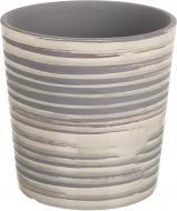 Кашпо керамічне Перелив круглий (064-7.7-7528L) сірий