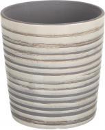 Кашпо керамічне Перелив круглий (064-6.8-7528L) сірий