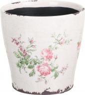 Кашпо керамічне Чайна троянда круглий (Y473-183/1-3) рожевий
