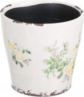 Кашпо керамічне Чайна троянда круглий (Y473-183/2-3) жовтий