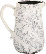 Кашпо керамічне глечик Прованс фігурний (H077-183-2) сірий