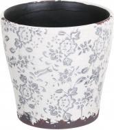 Кашпо керамічне Прованс круглий (Y473-183/3-3) сірий
