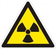 Наліпка Обережно! Радіоактивні речовини 150 мм