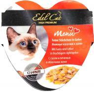 Консерва Edel Cat з птицею, гускою та печінкою в яблучному желе 85 г