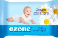 Дитячі вологі серветки Lili Baby з екстрактом ромашки і вітаміном Е 40 шт.