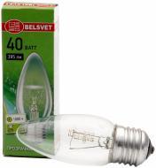 Лампа розжарювання  Belsvet B35 свічка 40 Вт E27 230 В прозора ДС 40-3