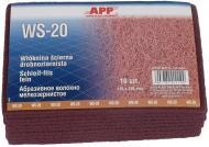 Волокно абразивне дрібнозернисте APP червоне 155x230мм 1 шт