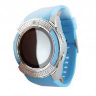 Умные смарт часы Smart Watch V8 голубые TOP