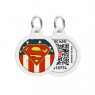 Адресниця WAUDOG Smart ID Супермен Америка преміум