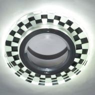 Світильник точковий Blitz з LED-підсвіткою MR16 35 Вт GU5.3 6000 К хром BL 220S3 CH+WH