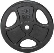 Диск для грифа чорний MaxxPro™ 20 кг