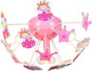 Люстра стельова Brilliant Kooby 3x40 Вт E14 рожевий HK12841S17
