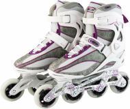 Роликовые коньки R206W0P р. 39 белый с фиолетовым