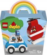 Конструктор LEGO DUPLO Пожежний вертоліт і поліцейська машина 10957