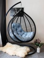 Кресло-кокон Indigo Аура с подушкой черный
