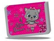 Пенал шкільний на замку 21x13,5x4 см Котик любить танцювати різнокольоровий