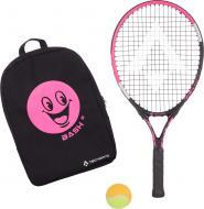 Ракетка для большого тенниса TECNOPRO BASH 21 W/BACKPACK AW2021 черный с розовым