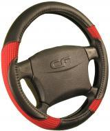 Чохол на руль Carfashion 31190 чорний із червоним