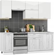 Кухня Грейд-Плюс Дуб Крафт белый ДСП 2,2м