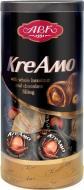 Цукерки АВК Креамо з цілим фундуком та шоколадною начинкою в тубусі 335 г (4823085715555)