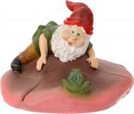 Фігурка декоративна для водойми Гном і жабка