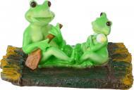 Фігурка декоративна для водойми Жабки на плоту