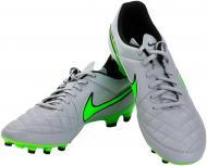 Футбольні бутси   Nike  Tiempo Genio Leather 631282-030   р. 10  сірий із зеленим