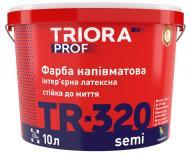 Краска латексная водоэмульсионная Triora TR-320 semi полумат белый 3л