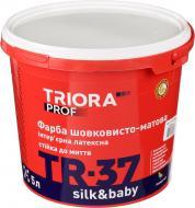Фарба латексна водоемульсійна Triora TR-37 silk&baby шовковистий мат білий 5л