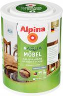 Лак акриловий Aqua Mobel SM Alpina шовковистий мат 0,75 л прозорий