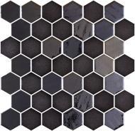 Плитка Onix Hex XL Stoneglass Opalo Black (BLISTER) 28,6x28,4