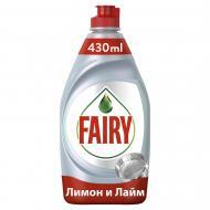 Засіб для ручного миття посуду Fairy Platinum Лимон і лайм 0,43л