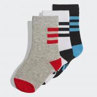 Носки Adidas LK PL SOCKS 3PP DW4754 р. 27-30 разноцветный